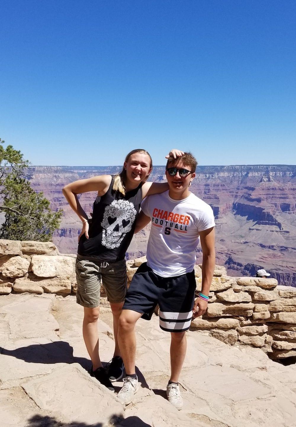 Chesney Gooding and Adam VanWitzenburg at the Grand Canyon