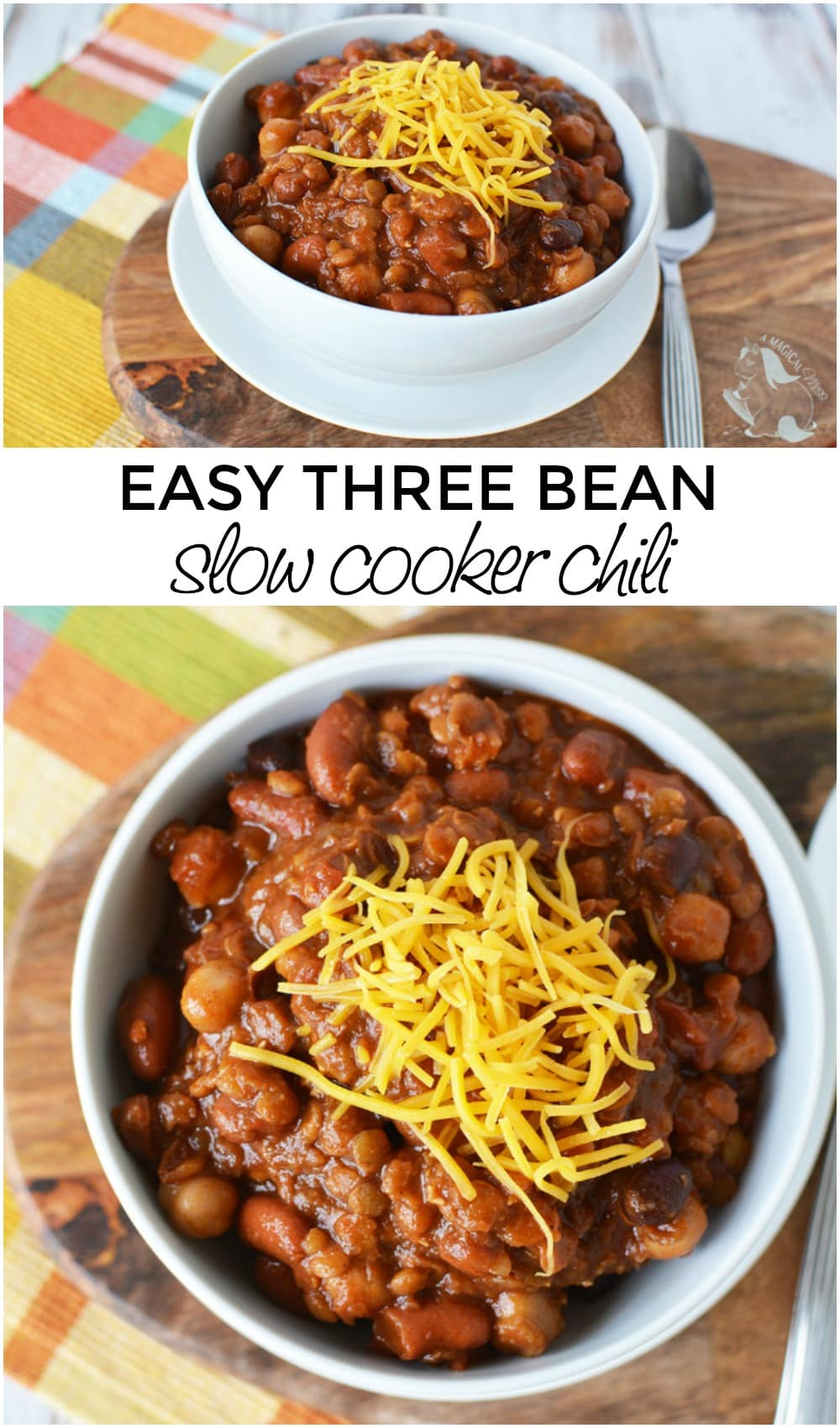Easy Three Bean Slow Cooker Chili Recipe