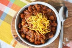 Three Bean Slow Cooker Chili Recipe
