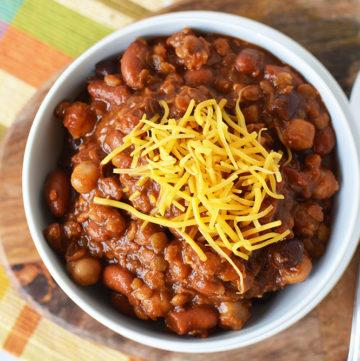 Three Bean Slow Cooker Chili Recipe