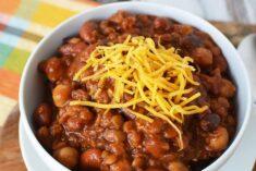 Easy Three Bean Slow Cooker Chili Recipe