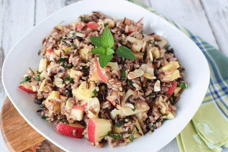 Honey Mint Wild Rice Salad Recipe