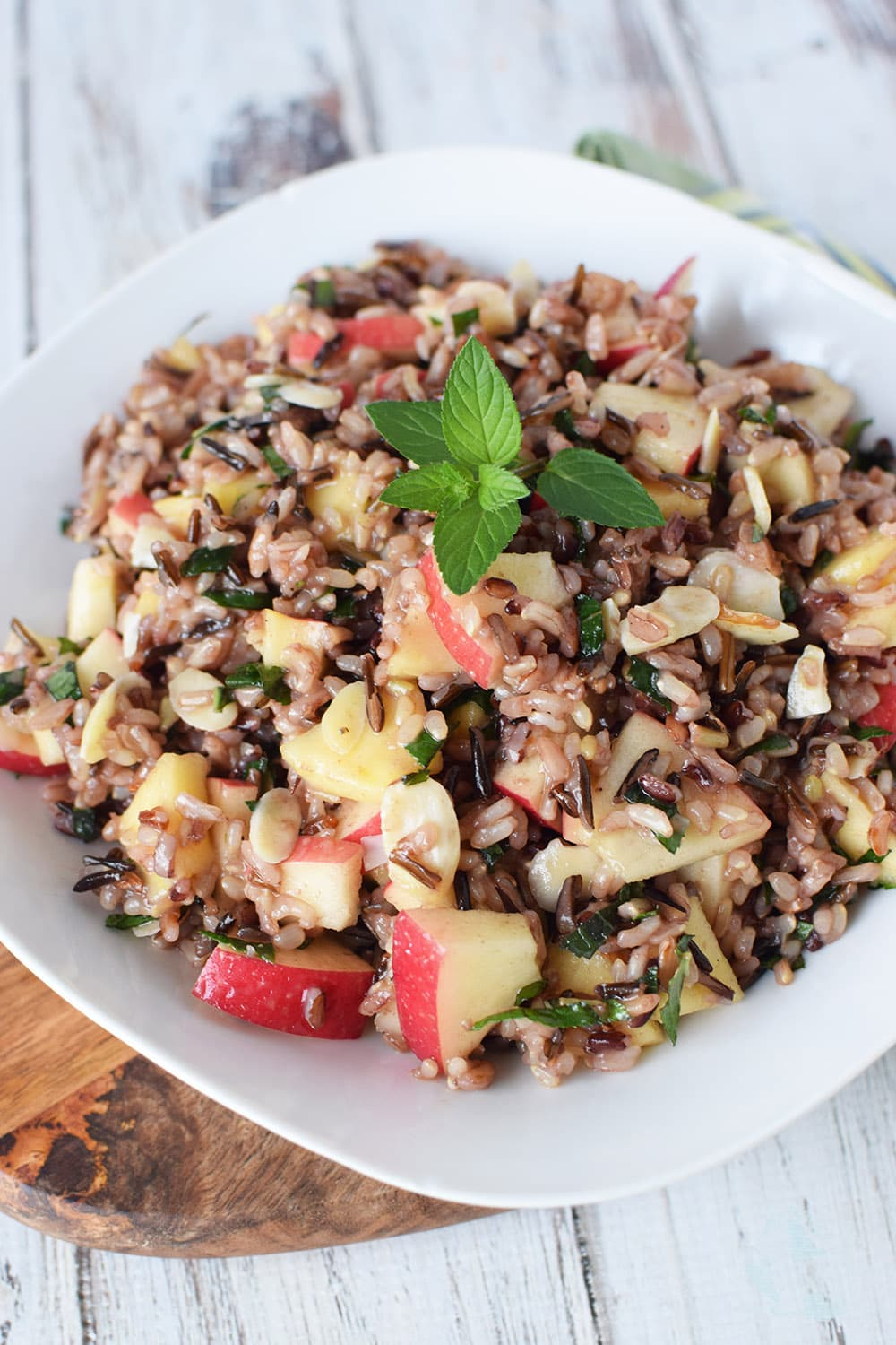 Wild rice salad recipe with honey and mint