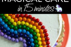 How to easily decorate a cake to make any occasion magical in under 15 minutes!
