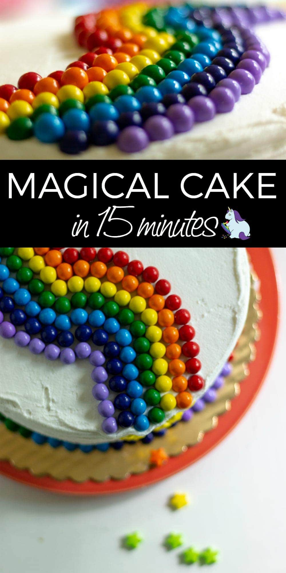 Easy Cake Decorating to Make Any Occassion Magical #cake #rainbow #unicorn #candy #cakedecorating #magical #colorful