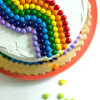 Quick and easy cake decorating - rainbow cake idea
