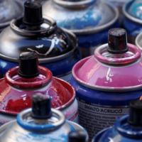 Upcycling projects for home decor are endless! Just bust out the spray paint.