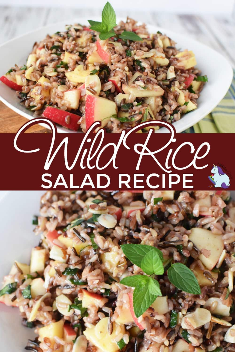 Wild rice salad in a bowl