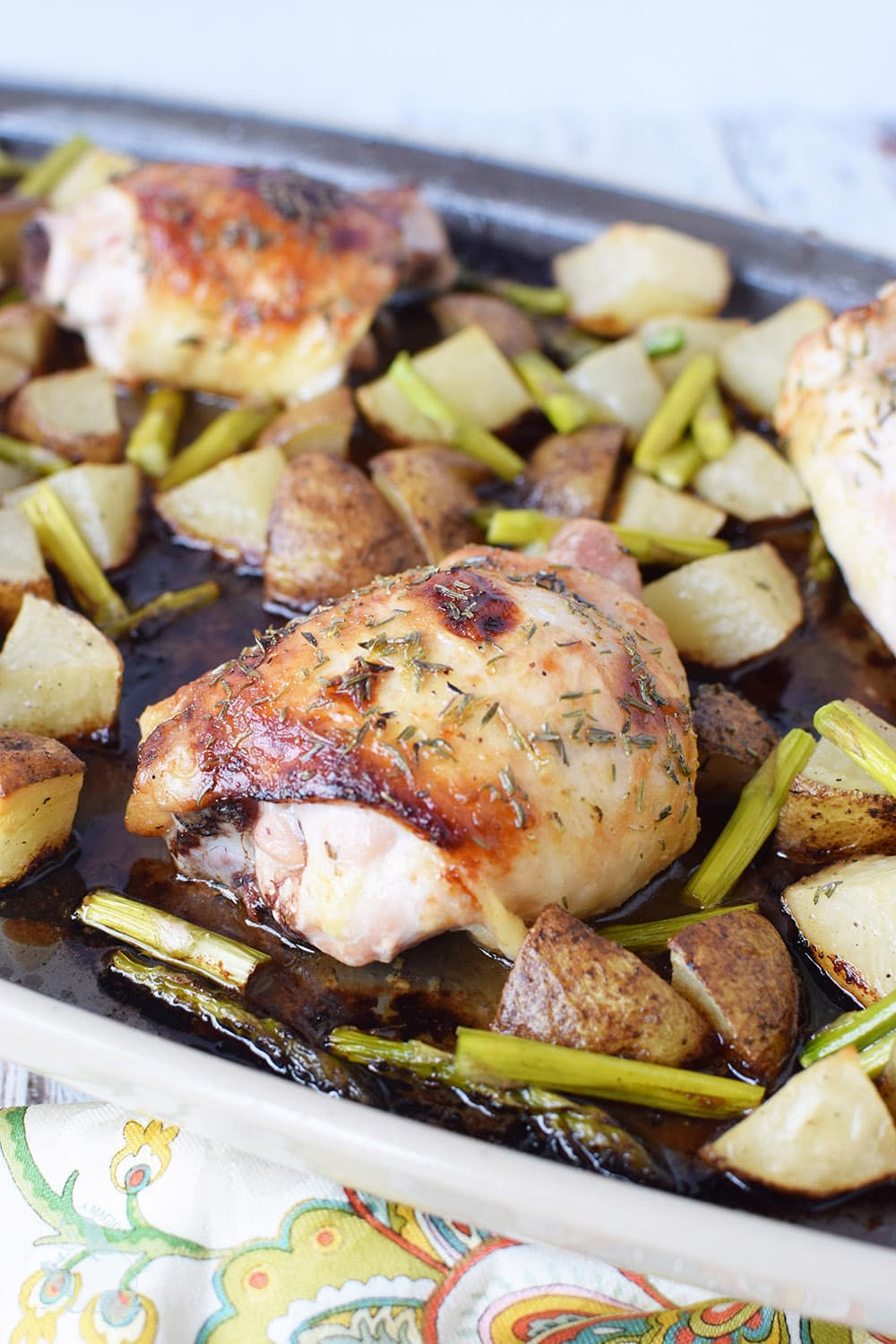 Chicken Thighs Sheet Pan Dinner