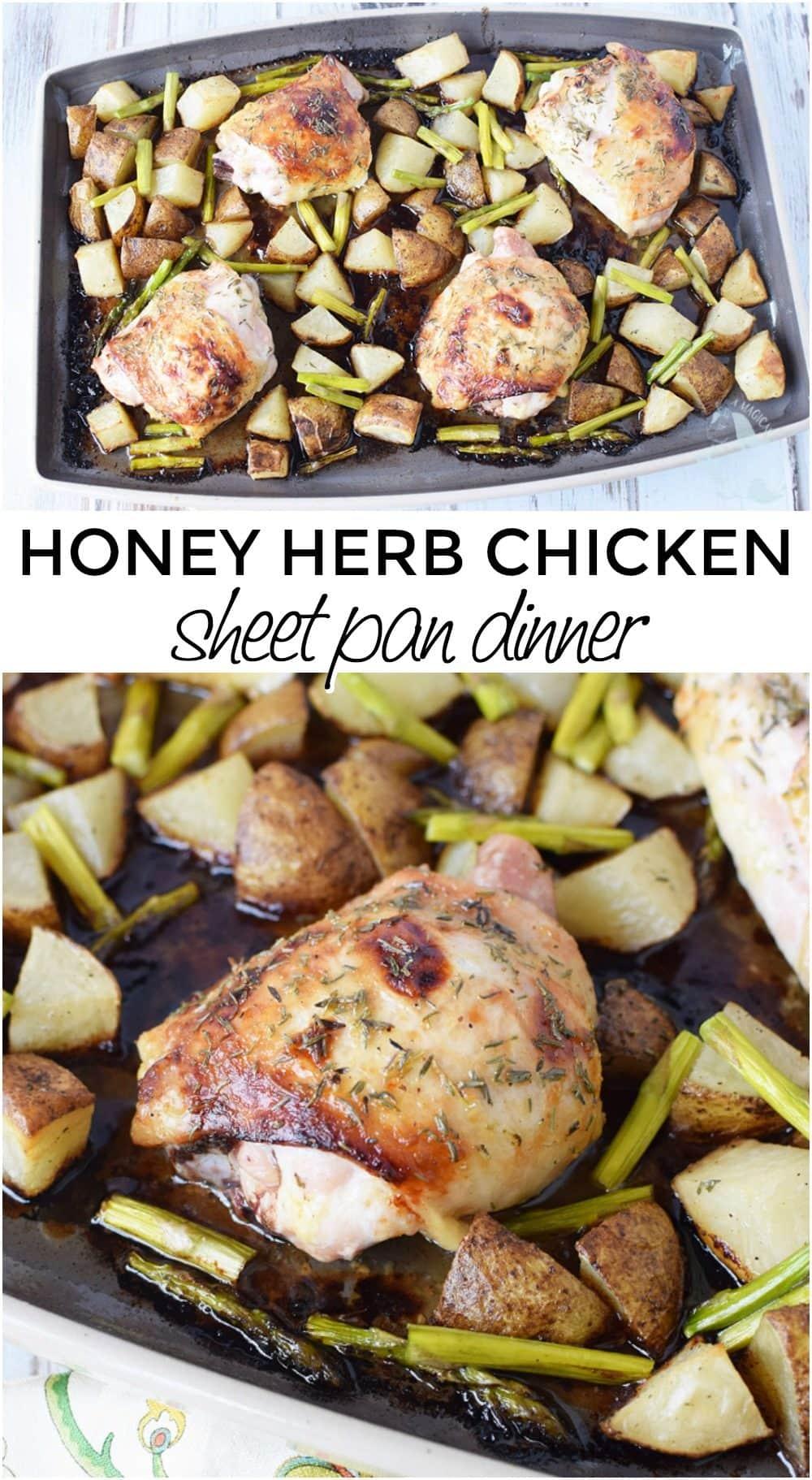 Honey Herb Baked Chicken Thighs Sheet Pan Dinner