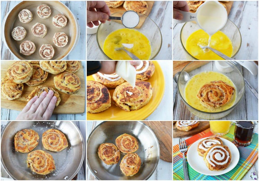 Best brunch or slumber party breakfast - Cinnamon Roll French Toast recipe