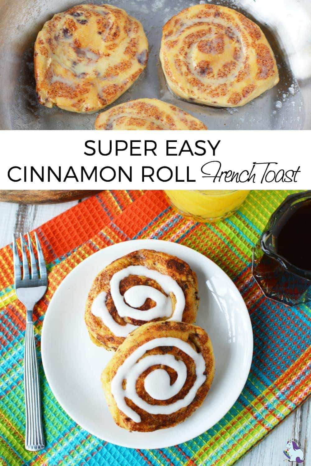 Addicting and Easy Cinnamon Roll French Toast Recipe #breakfast #frenchtoast