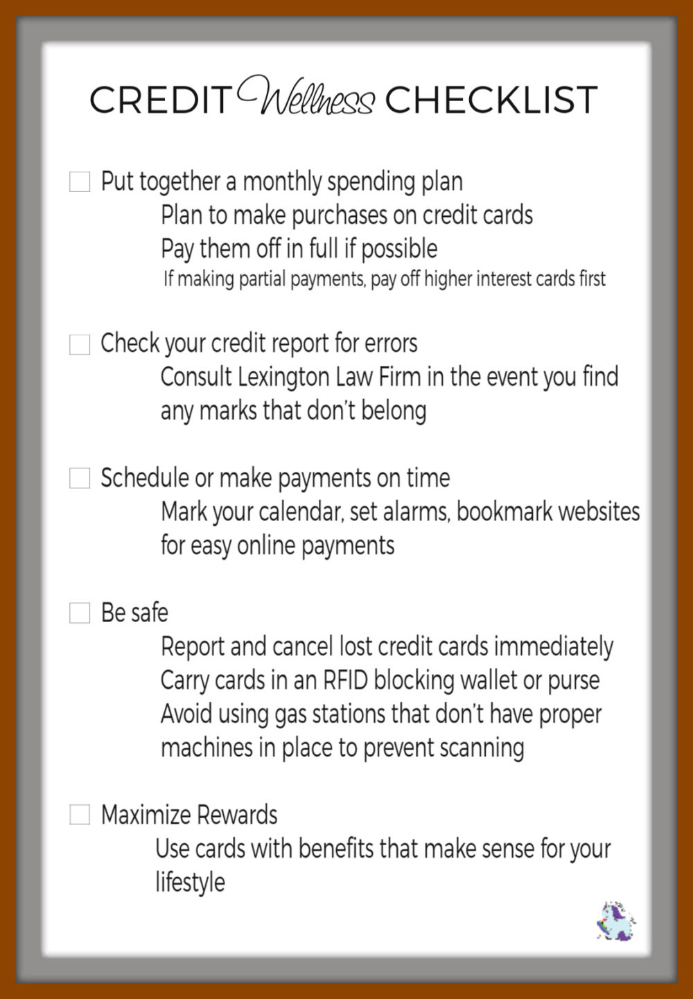 Credit Wellness Checklist - A Must Before the Holiday Shopping Season!