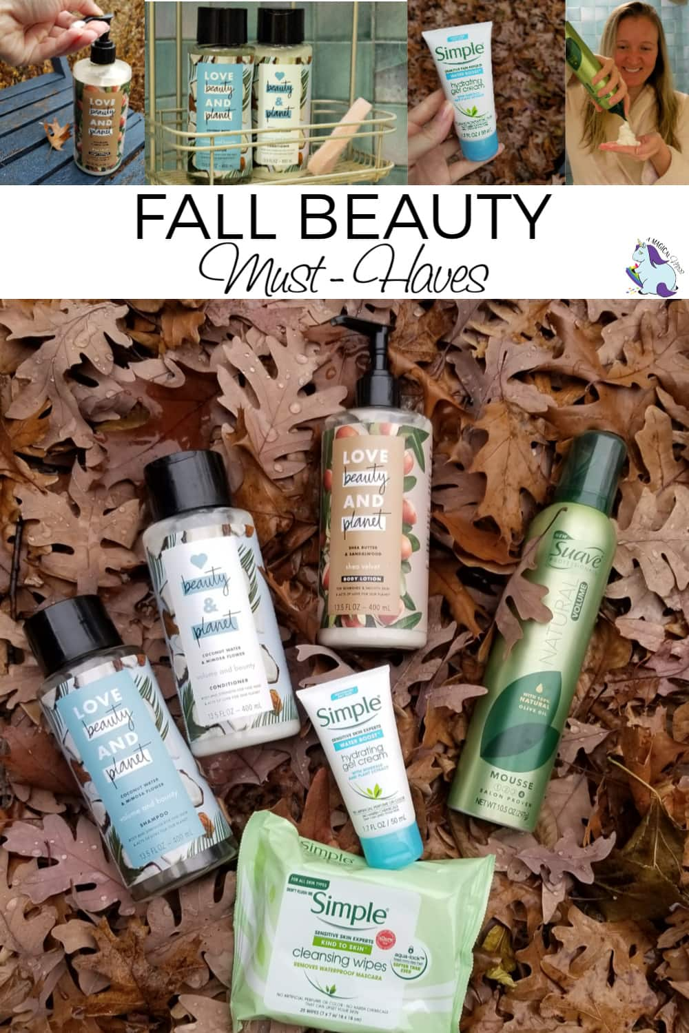 Changes in weather mean the beauty routine needs to adapt. These are her fall favorites for hair and skin--and she got them all at her grocery store! #TakeANewLook18 #beauty #bathbody #skincare