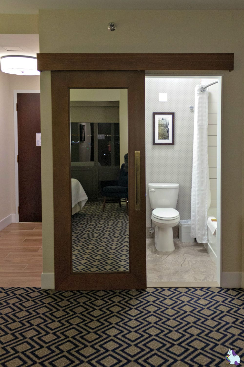 Oak Brook Hills Resort - new bathroom barn door renovations