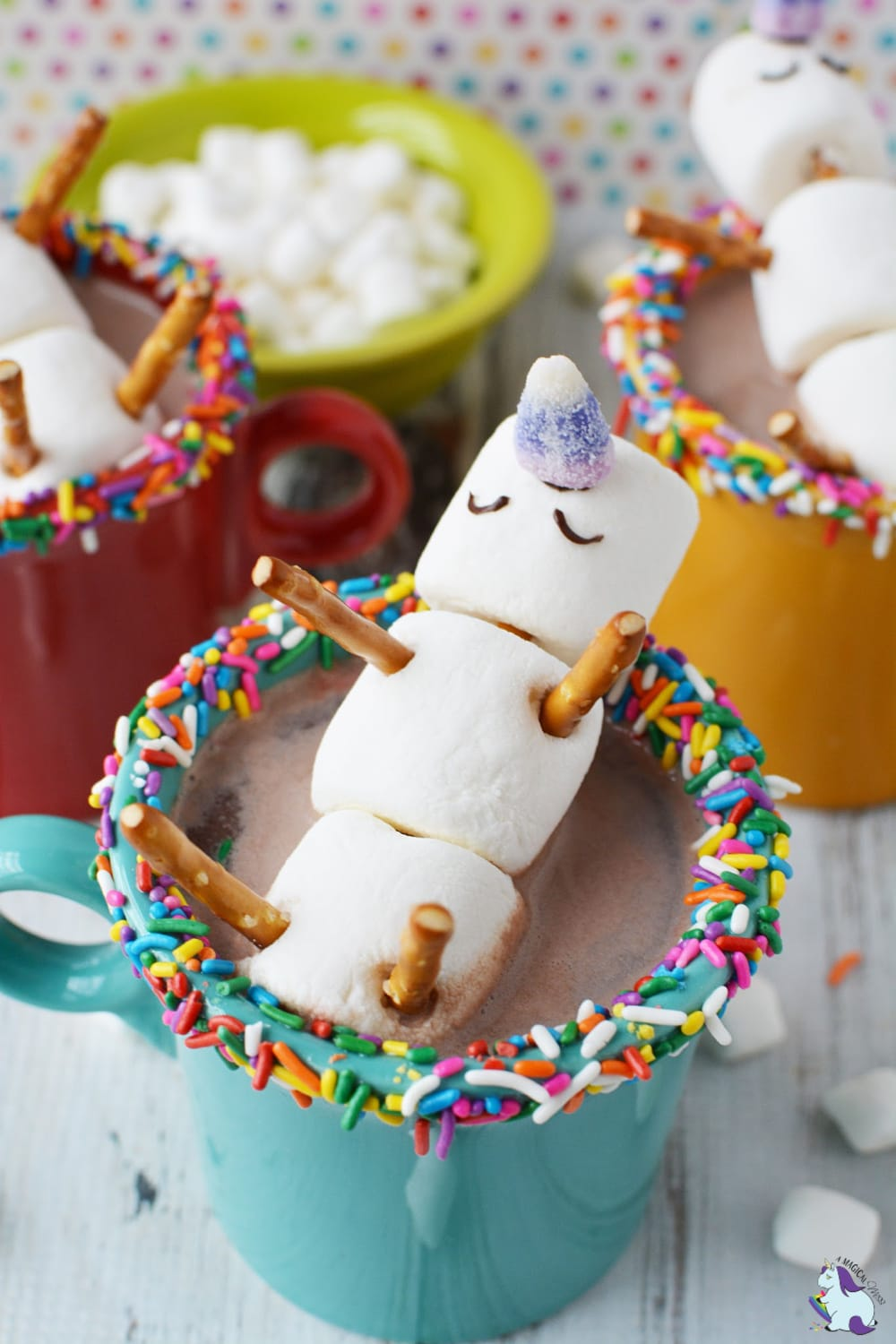 Melted Unicorn Hot Chocolate