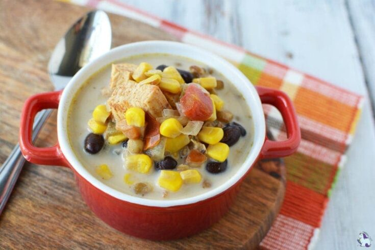 Southwest Chicken and Lentil Chowder