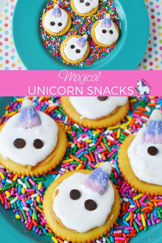 The Cutest Unicorn Snacks in all the Land #unicorns #snacks #birthdayparty #treats #easysnacks #magical #fantasy #unicorn #crackers