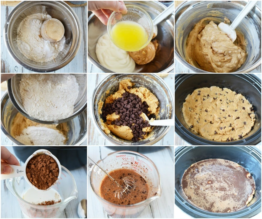 Steps to make slow cooker cake