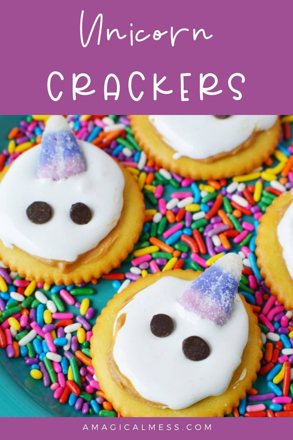 crackers with unicorn faces