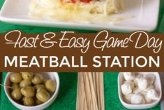 Meatball slider and table of ingredients