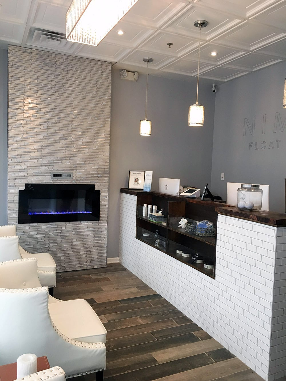 The front desk at Nimas Float and Spa
