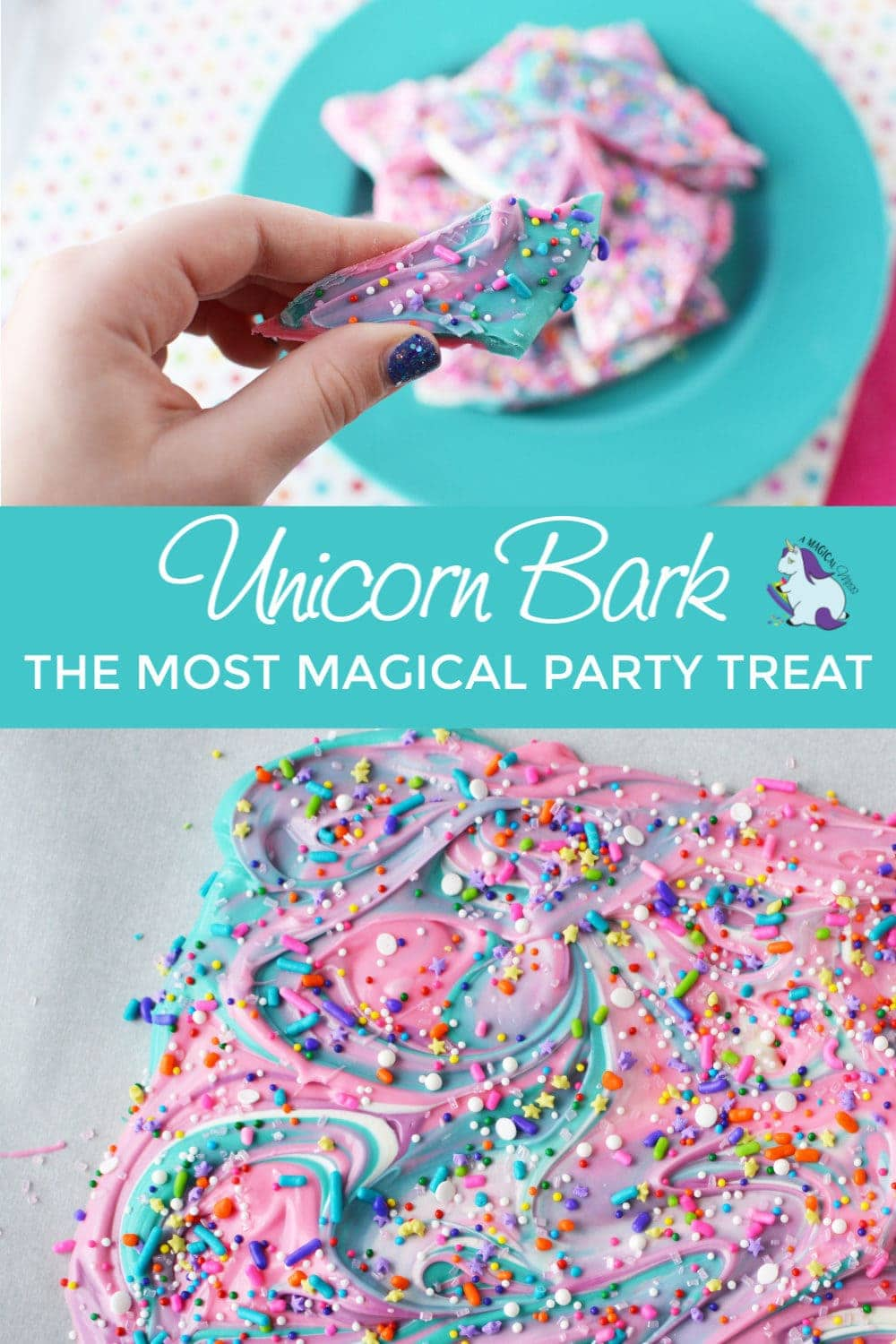 unicorn bark - the most magical party treat