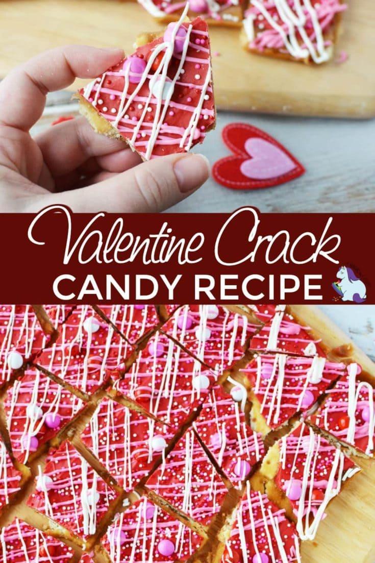 Valentine cracker candy