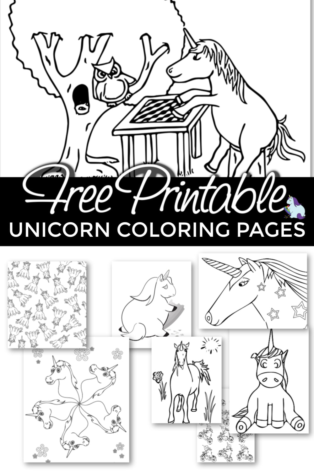 Free printable unicorn coloring pages