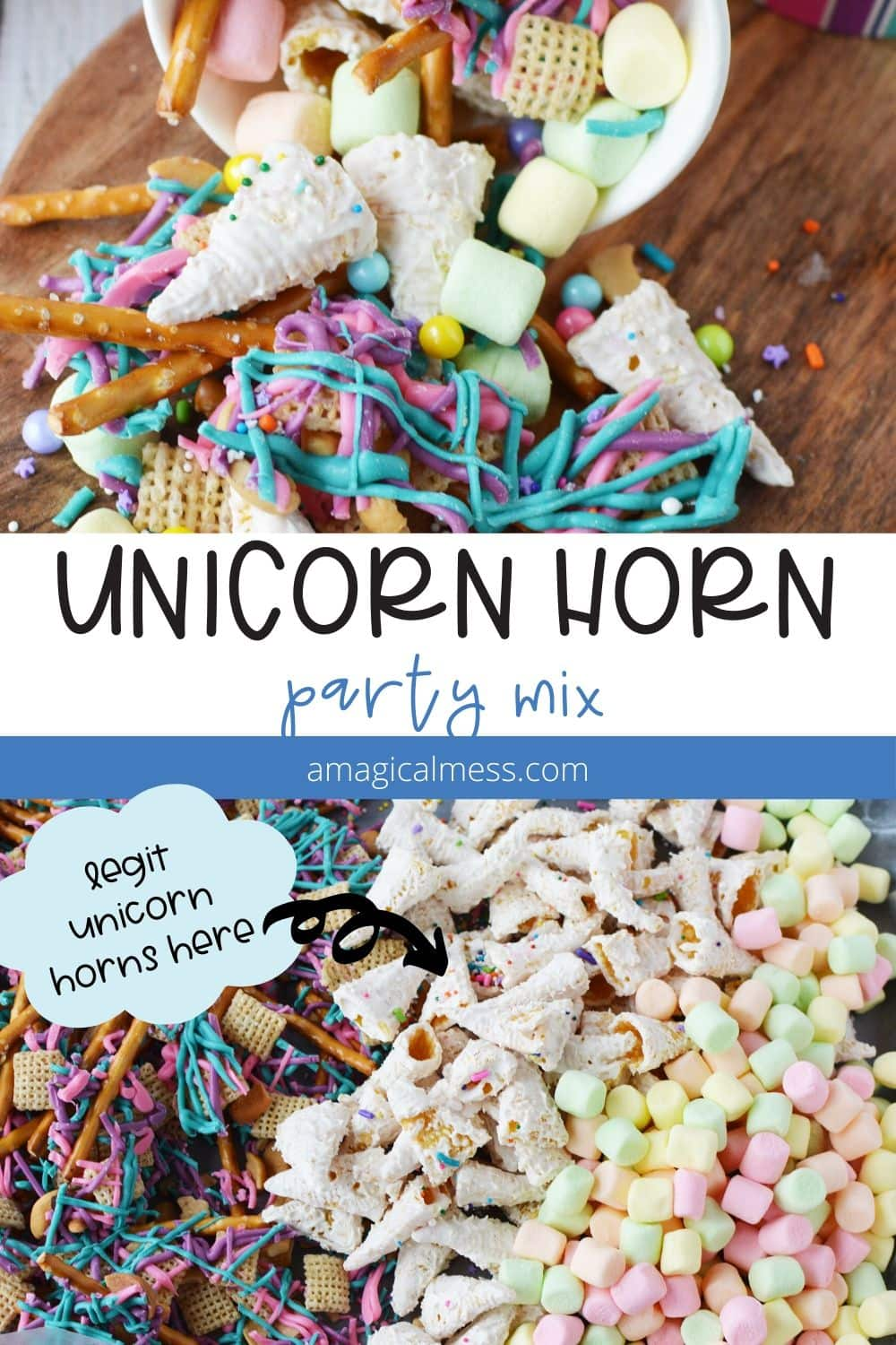 snack mix for a unicorn party