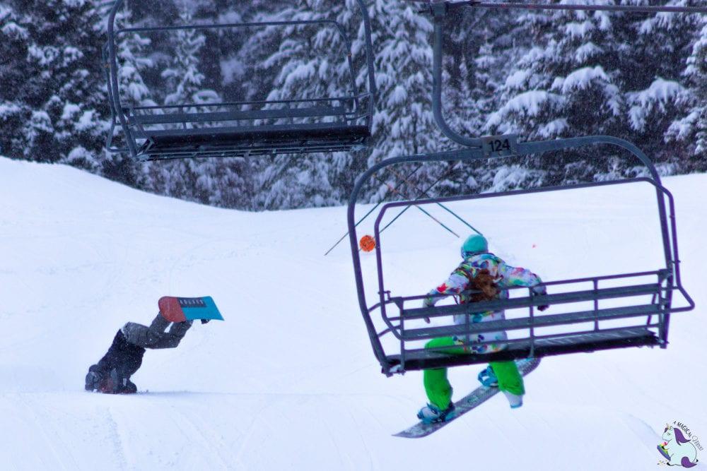 Epic fail snowboarding Bridger Bowl