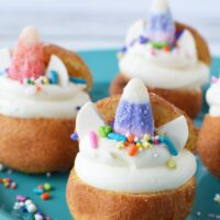 Adorable unicorn donut holes