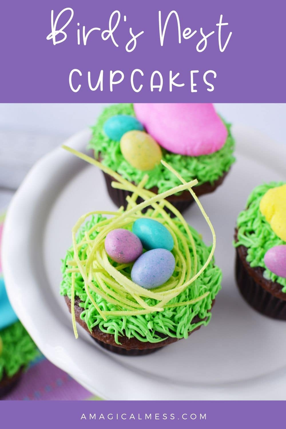 Cupcakes with Easter eggs on top