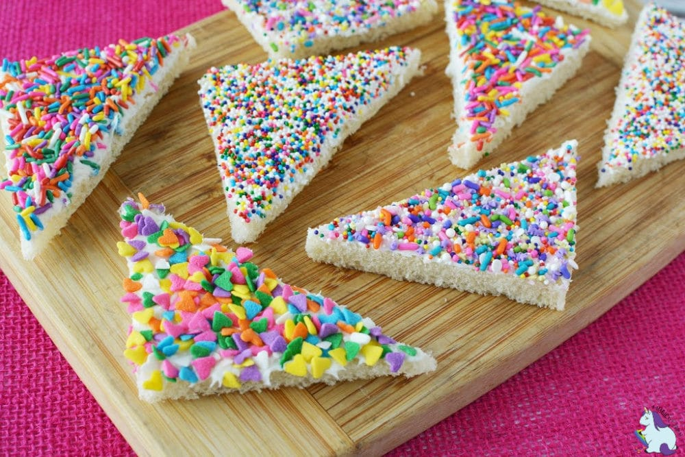 fairy bread with different sprinkles
