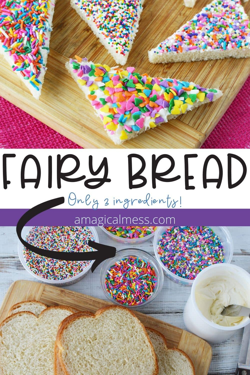 Fairy bread with sprinkles