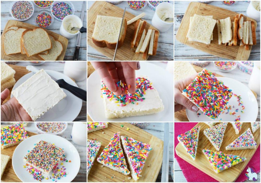 Fairy bread recipe steps