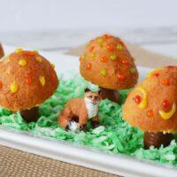 donut holes made into fairy toadstools