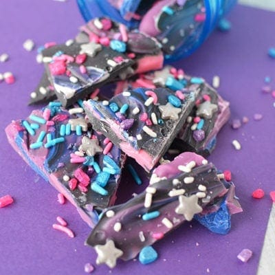 Galaxy bark spilled out of jar.