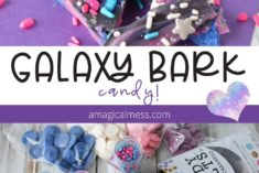 Galaxy bark space candy