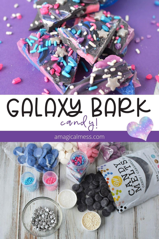 Galaxy bark space candy