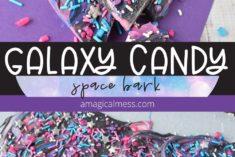 Galaxy themed bark candy
