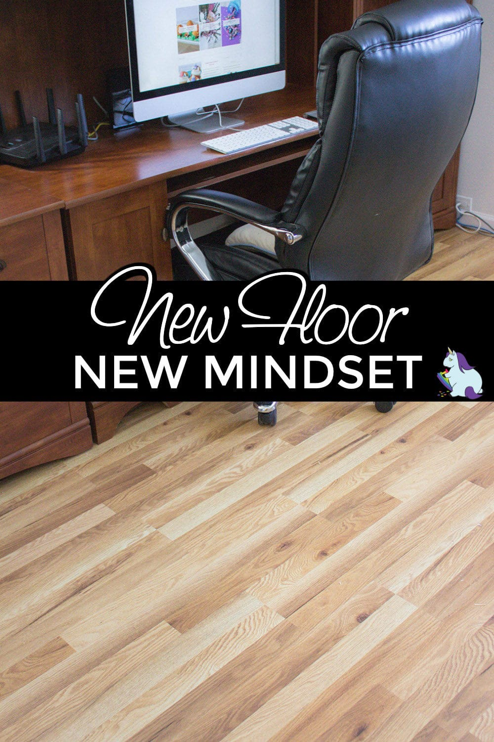 Office remodel with brand new vinyl flooring.