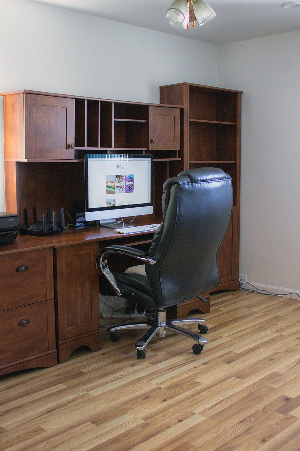 Clean office with new floor