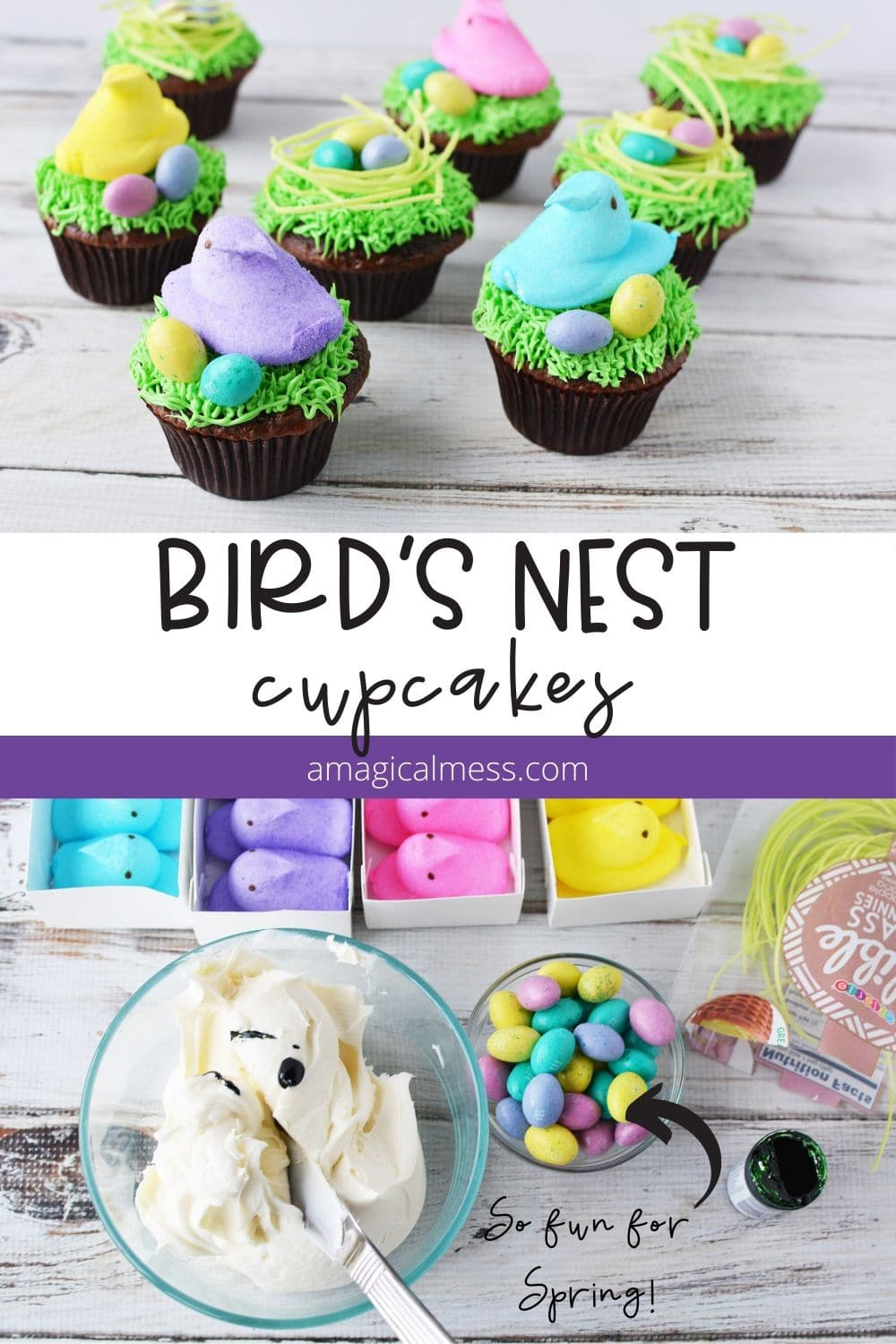 nest cupcakes for Easter
