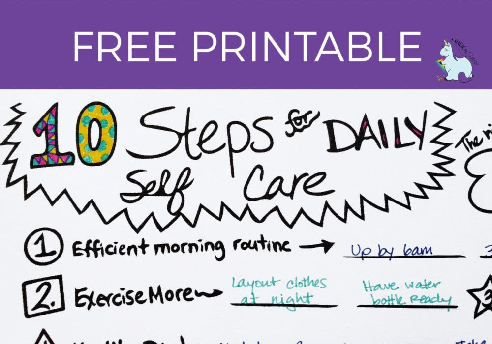 graphic relating to Printable Self Care Plan identify 10 Stage Self Treatment Program - Totally free Printable! A Magical Mess