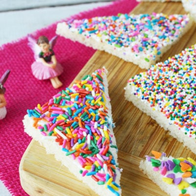 Colorful sprinkles on bread slices
