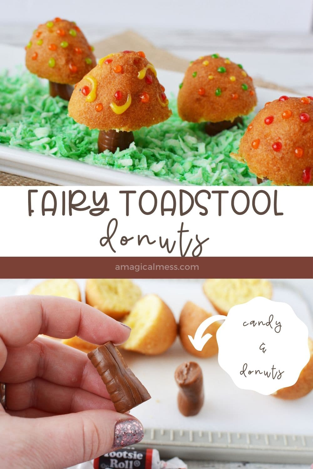 donuts treats that look like toadstools