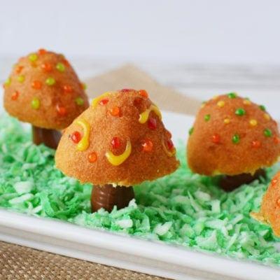 Donut holes and Tootsie Rolls - Fairy Toadstool treats