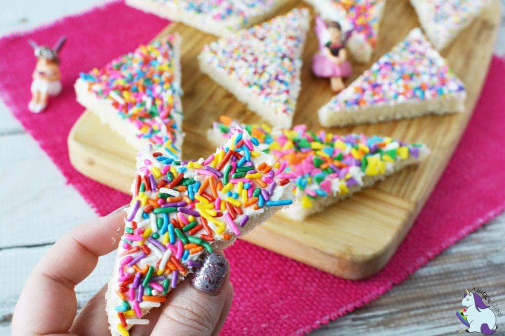 Colorful fairy bread with sprinkles