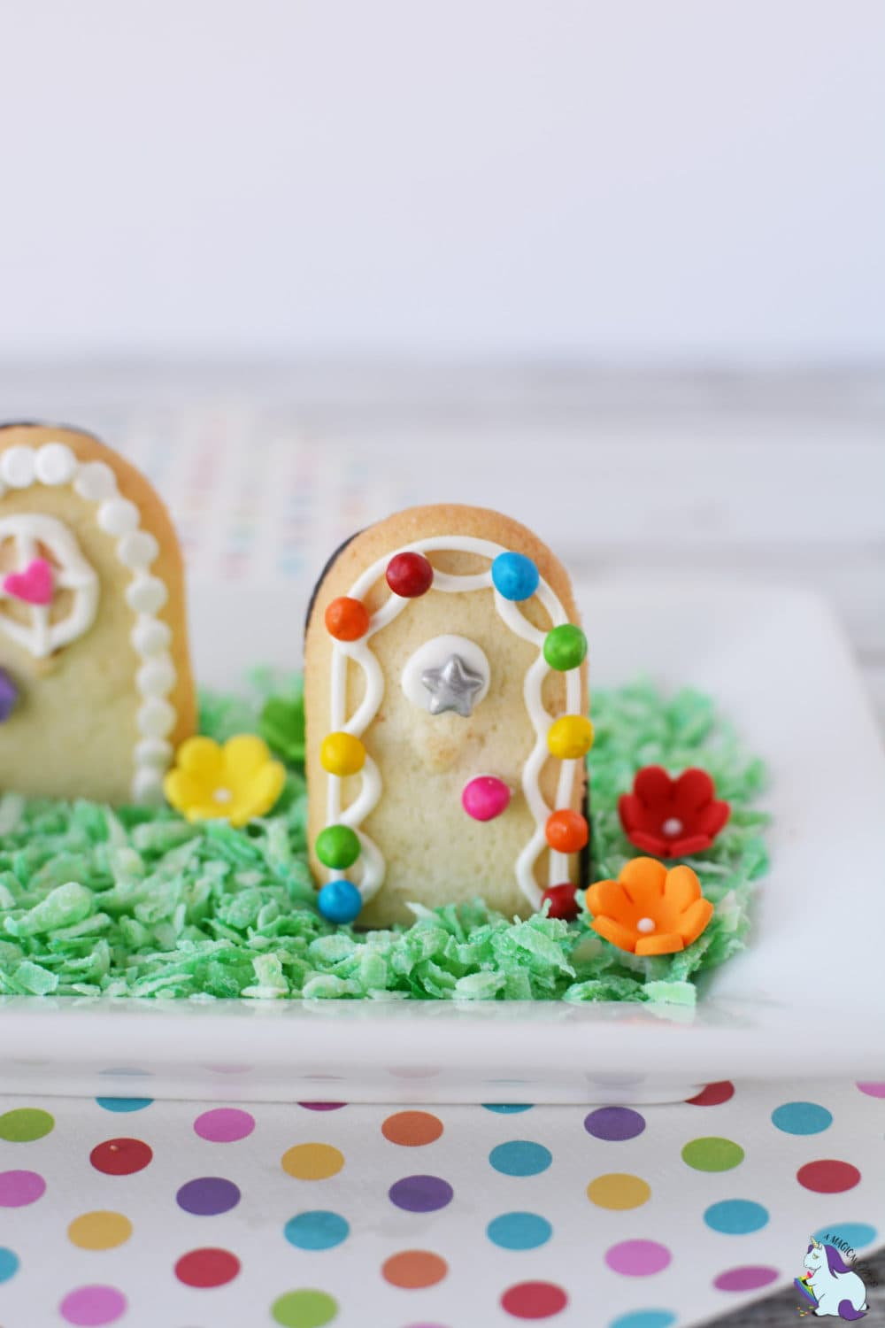 Cute and magical fairy door cookies